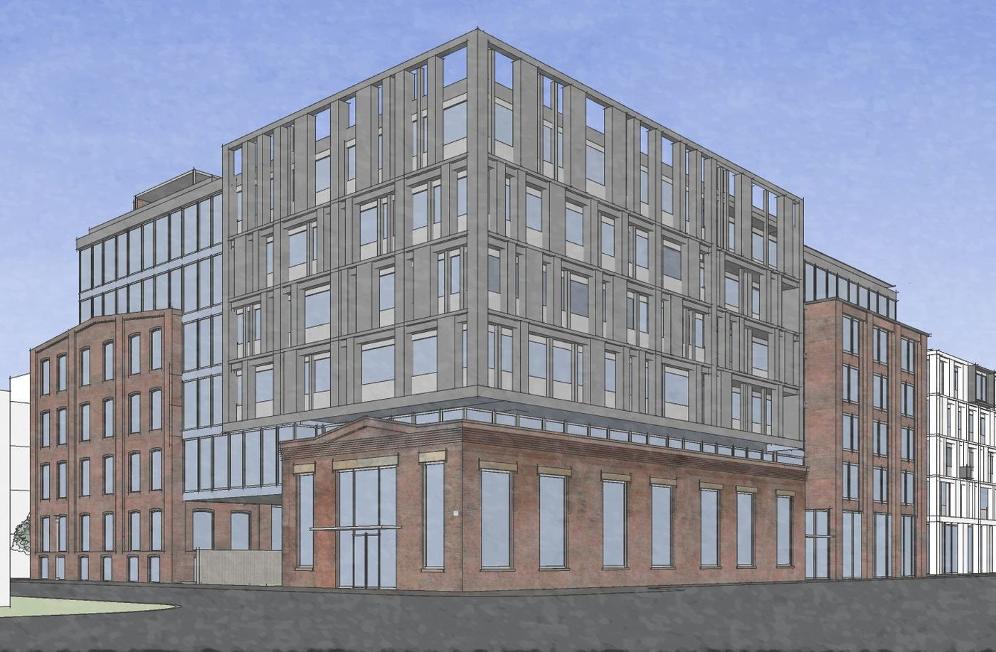 Artist S Rendering Of Apartment Building Planned At The Former Frankford Chocolate Factory Site As Seen