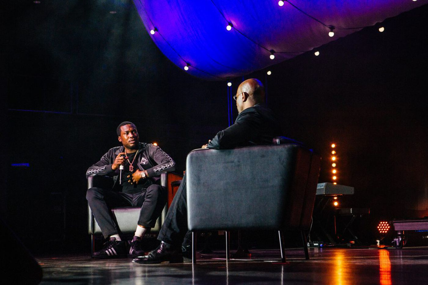 CNN's Van Jones sits down with Meek Mill during We Rise Tour