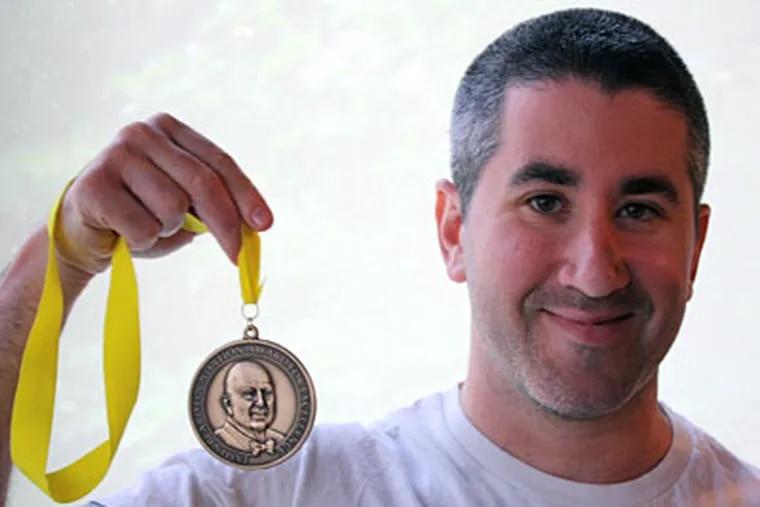 Chef Michael Solomonov with his James Beard medal.