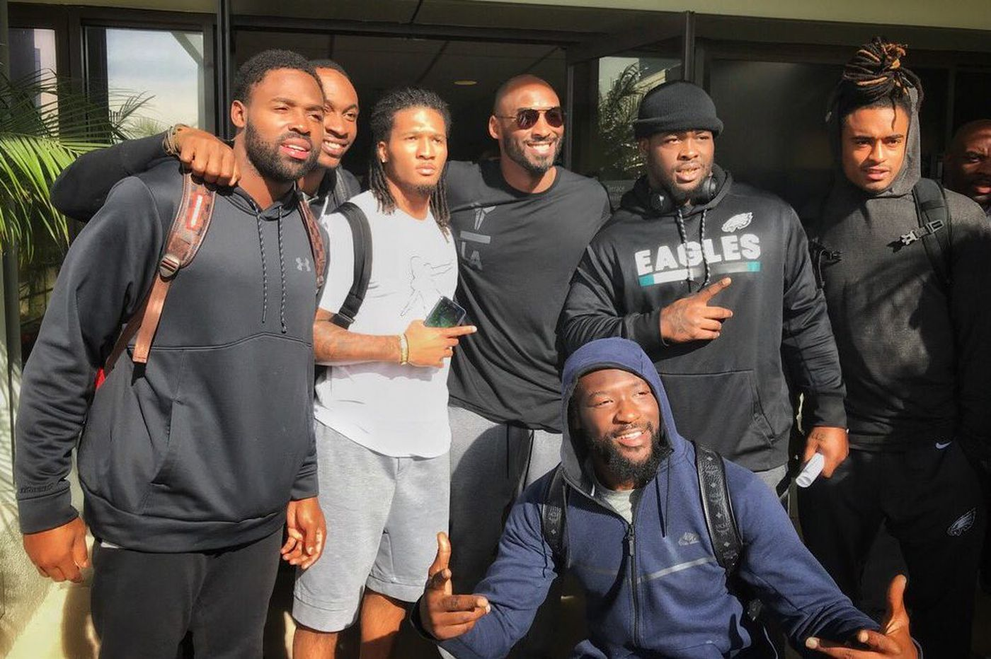 Eagles enthralled by visit from Kobe Bryant