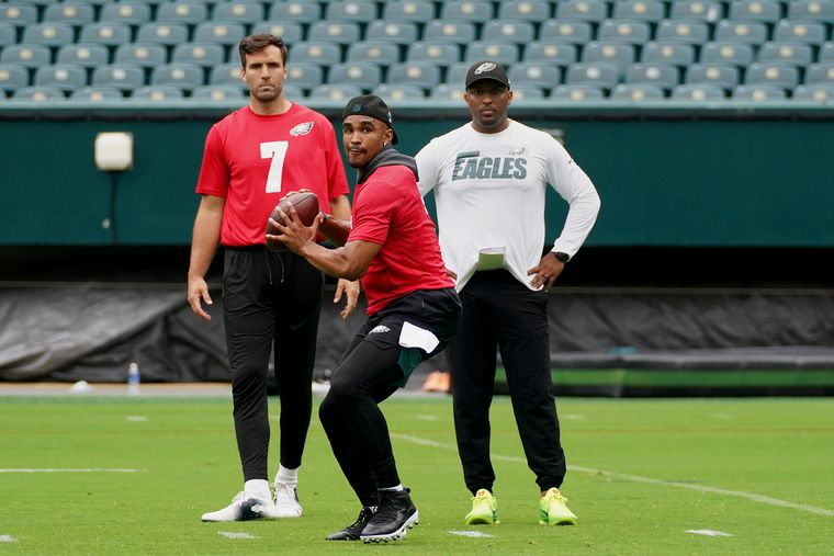 Eagles hope 'coach Brian' can help turn Jalen Hurts into a franchise quarterback