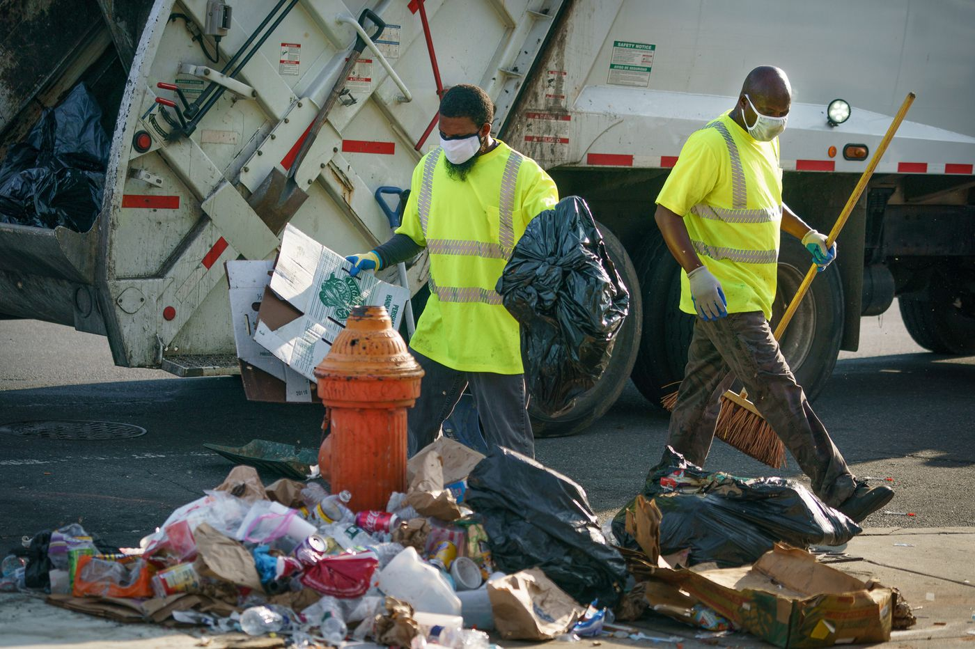 Philly's trash pickup woes are now delaying street repairs as recycling remains significantly behind