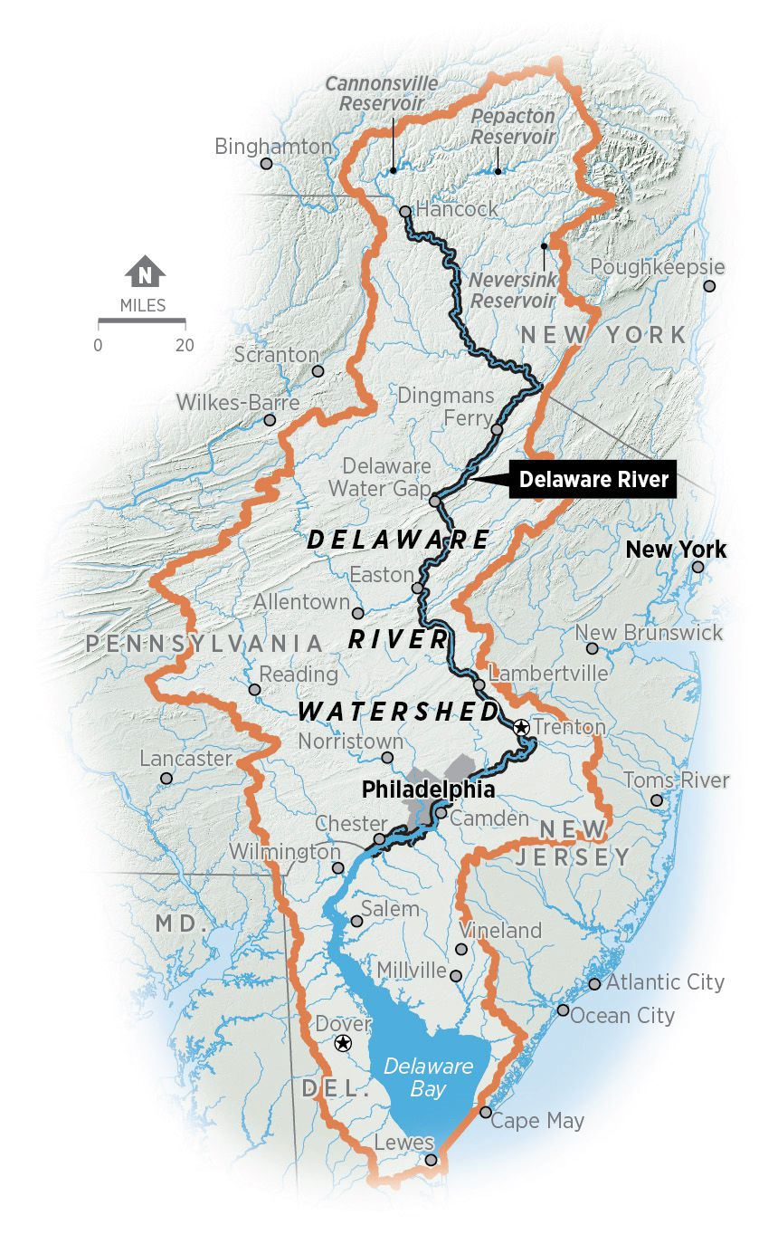 delaware river on us map The Delaware River The River That Made Philadelphia delaware river on us map