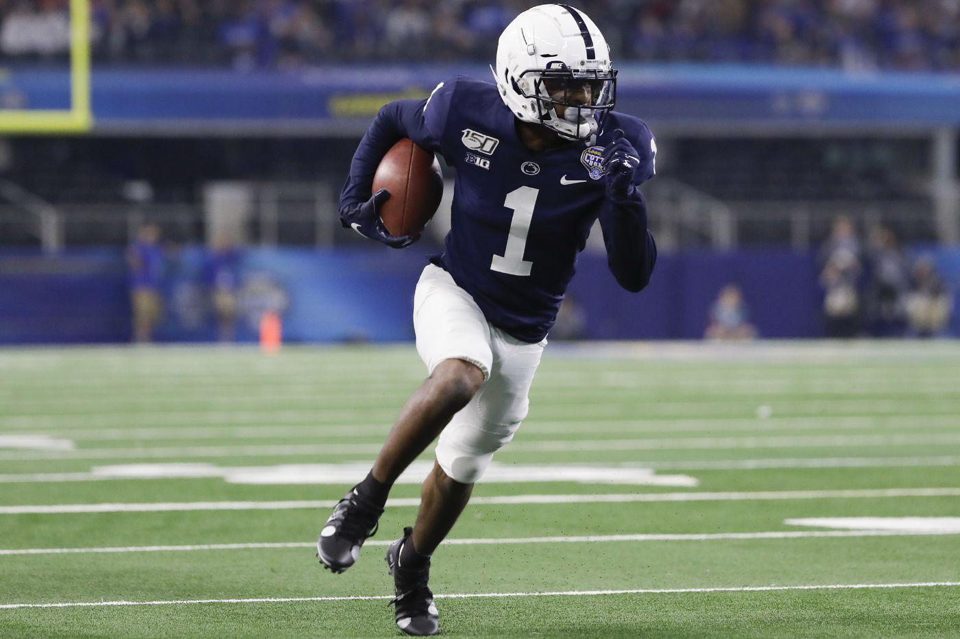 Penn State wide receiver KJ Hamler will enter the NFL draft