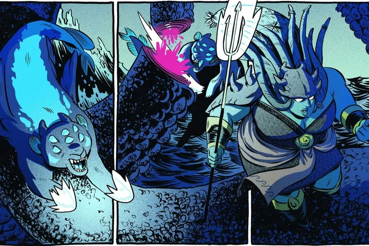 Christine Larsen's Holy Diver is a graphic novel without words