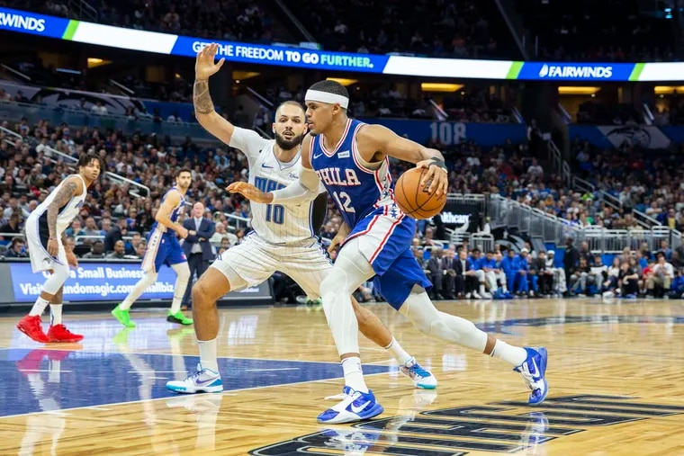 Sixers forward Tobias Harris (12) cleared to  play in Saturday night's game against the Miami Heat.