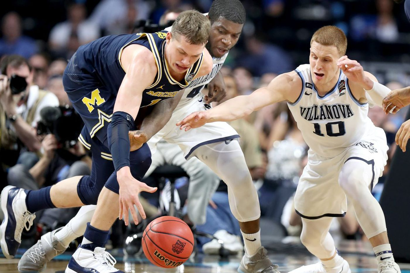 80f69e42109 Michigan star Moritz Wagner silenced by Villanova defense in NCAA  championship game | Mike Jensen