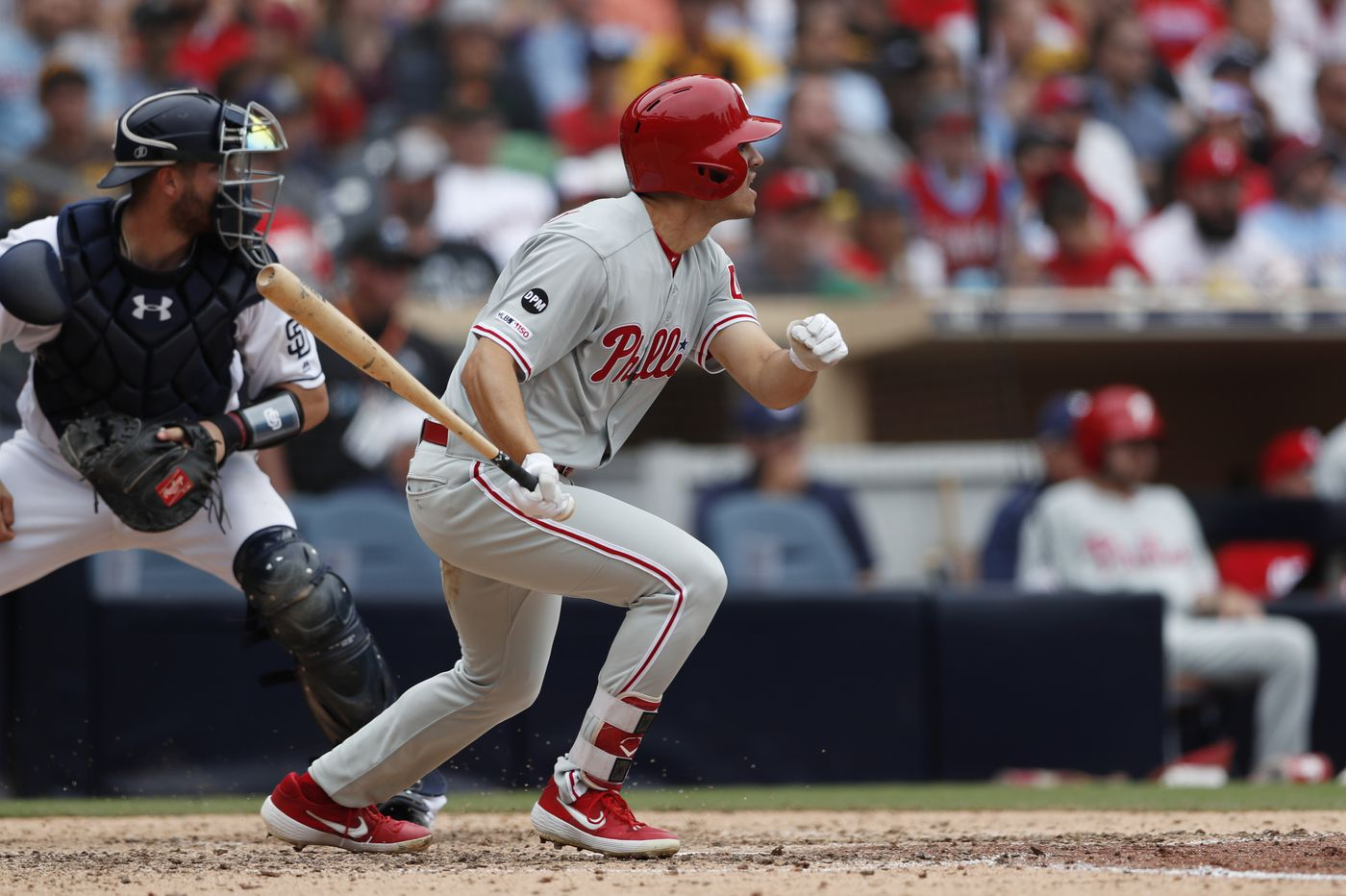 Adam Haseley's first hit ends Phillies' strange road trip with a come-from-behind win over Padres
