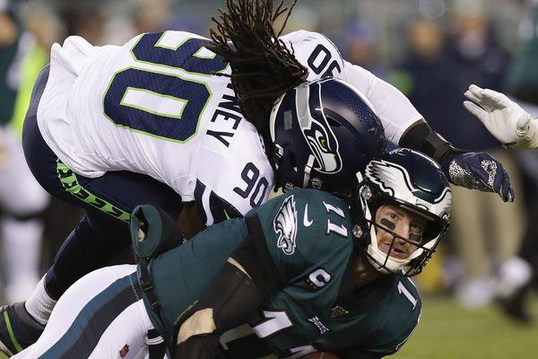 Eagles' Doug Pederson won't dwell on Jadeveon Clowney's hit on Carson Wentz: 'It's part of our game'
