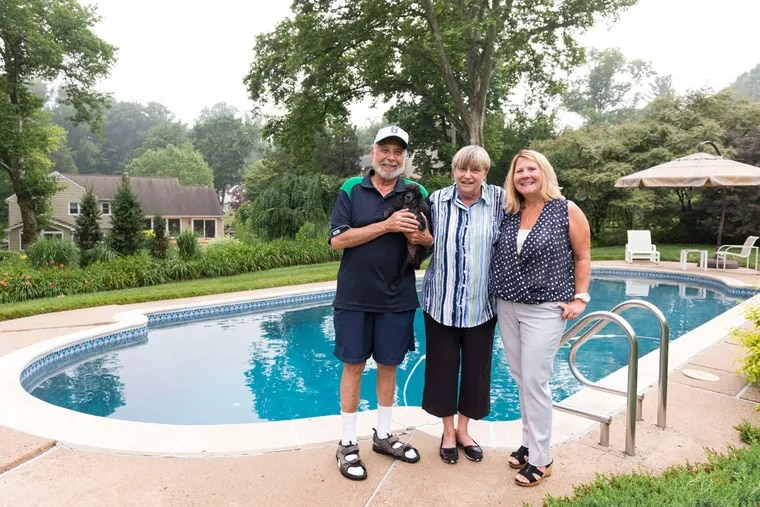 Richard (left) and June (center) Kasher of Villanova are excited to sell their home and live on the western coast of Florida year-round with help from their Realtor Pamela Owsik (right).