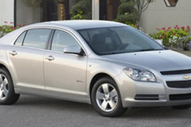 The 2008 Chevrolet Malibu Hybrid is livelier in performance than a pure hybrid, but does not achieve the extreme gas mileage of a Toyota Prius.