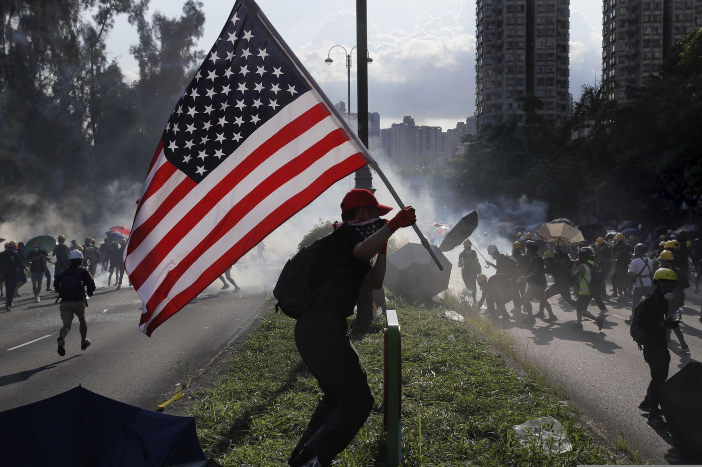 American flags in Hong Kong show people still fight for our values. Americans should join them | Will Bunch