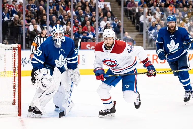 The Flyers acquired Montreal veteran Nate Thompson (44), who will start off as the fourth-line center for his new club.