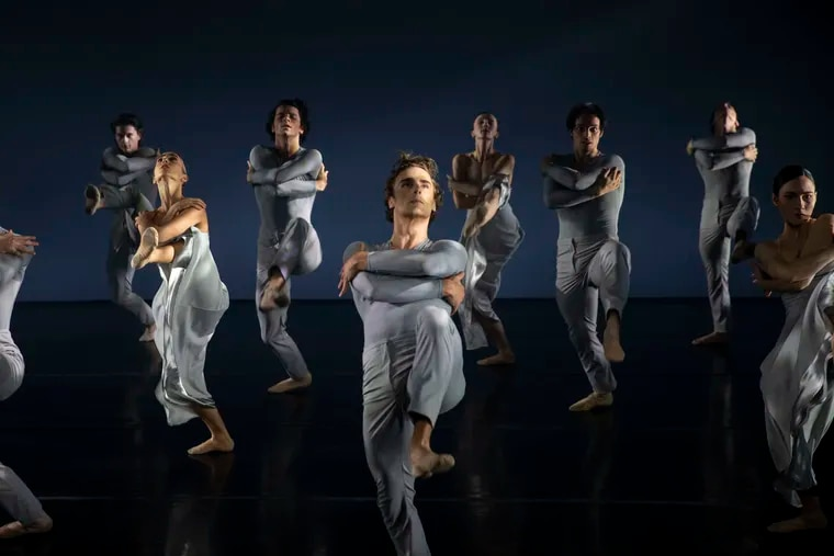 """Dancers from the Philadelphia Ballet perform in """"Landscaping the Mist,"""" choreographed by Angel Corella"""