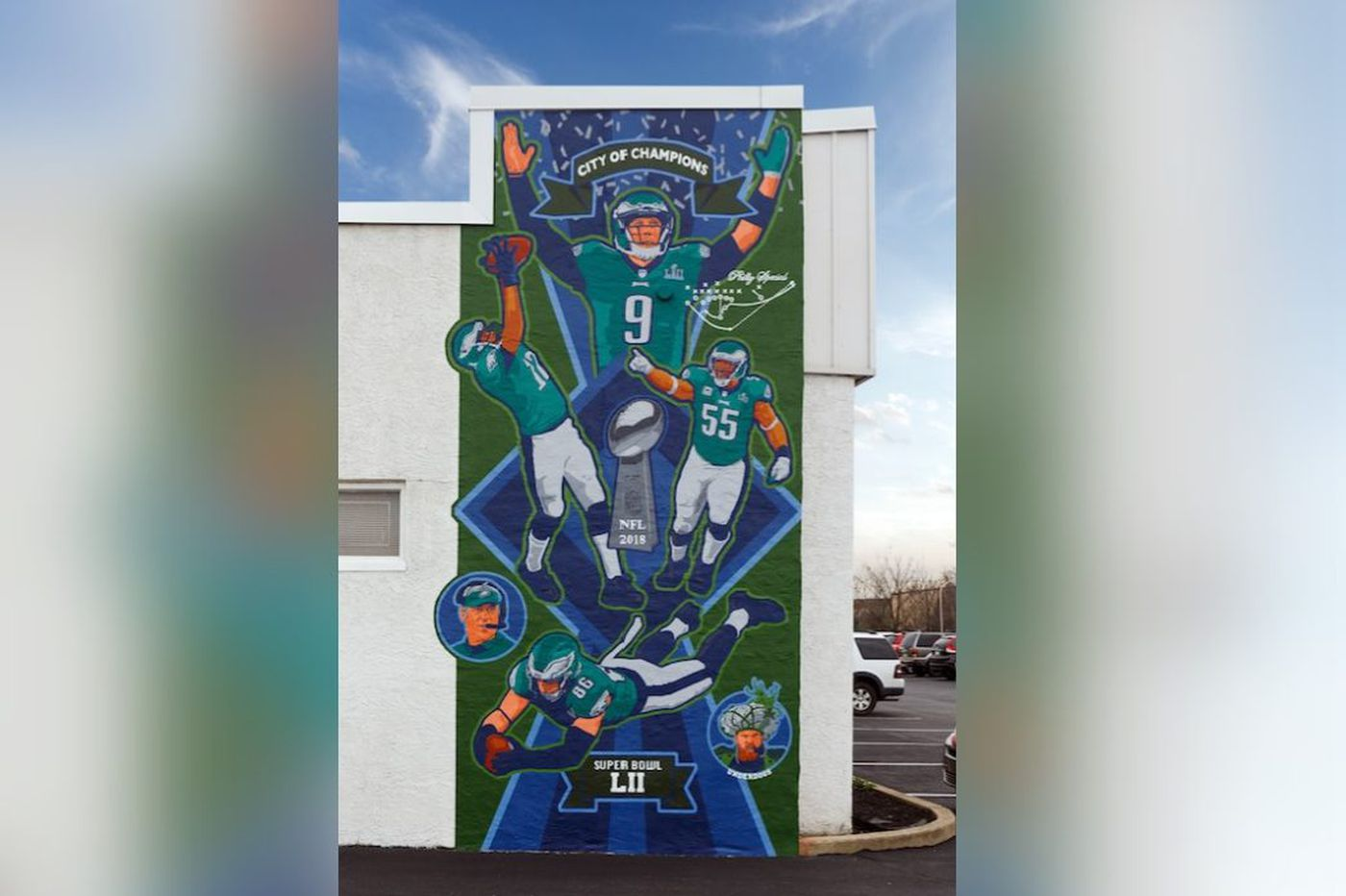 Eagles Super Bowl mural to be dedicated next month