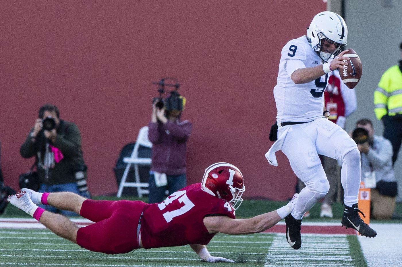 Trace McSorley says he's not carrying too much of the offensive load for Penn State