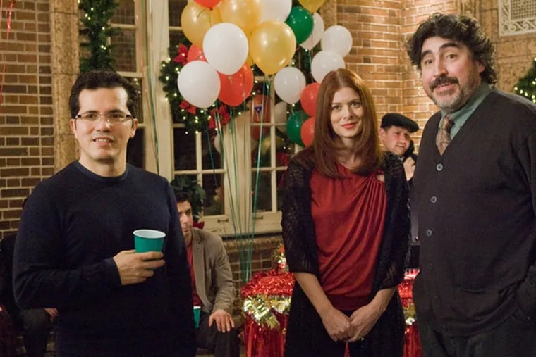 Portraying members of one big Puerto Rican extended family (from left): John Leguizamo, Debra Messing and Alfred Molina.