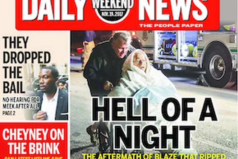 Daily News front page  11/18/17
