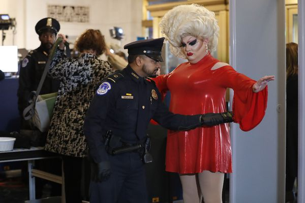 New Jersey drag queen, a frequent presence in Philly, attends public impeachment hearing