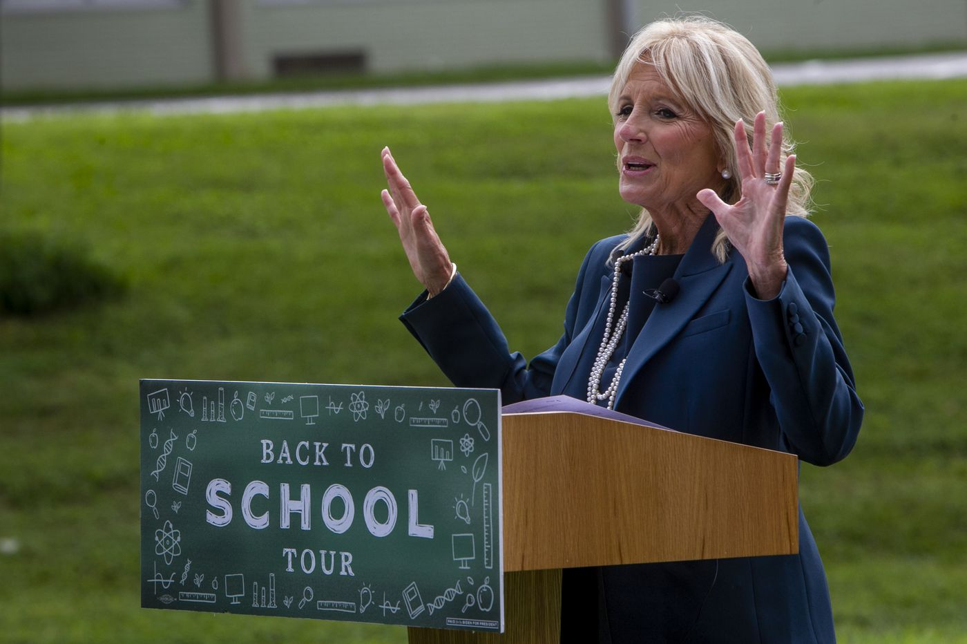 Jill Biden says parents are 'losing sleep' as kids go back to school, but 'we haven't given up'