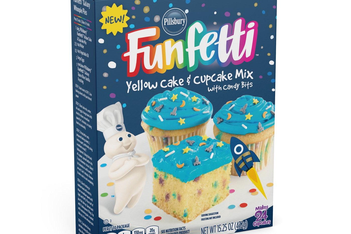 You can now buy Pillsbury Funfetti cake in unicorn and space-themed shapes