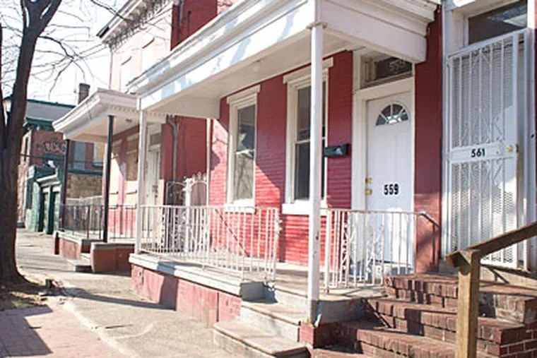 The Camden rowhouse where the couple was tortured. A girl, 14, pleaded guilty to aggravated manslaughter today. (Ed Hille / Staff Photographer)