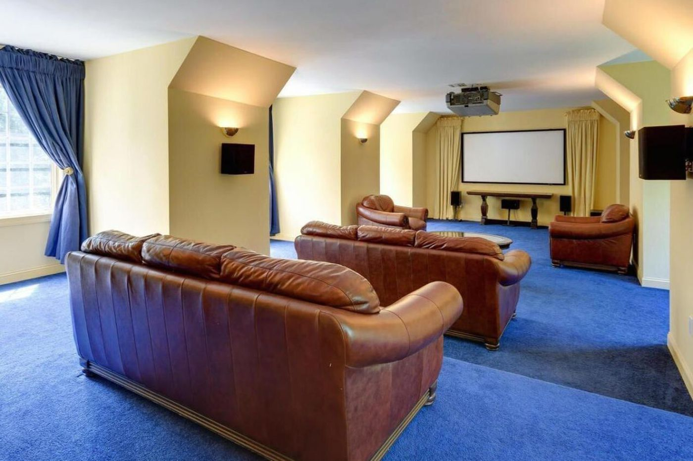 Million-dollar manses with home theaters fit for a Super Bowl