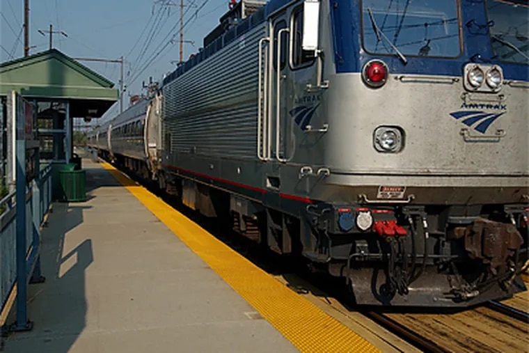 Amtrak nearly stopped all service to the Cornwells Heights station in Bucks County two years ago, but backed off. Now only two trains stop there each day. (John Slavin/Inquirer file photo)