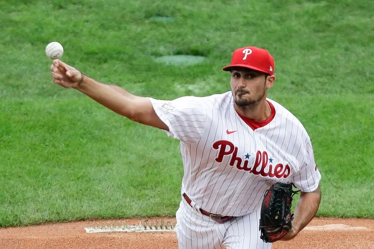 Phillies starter Zach Eflin's ERA has declined in each of the last four seasons, winding up at 3.97 in 11 games last year.