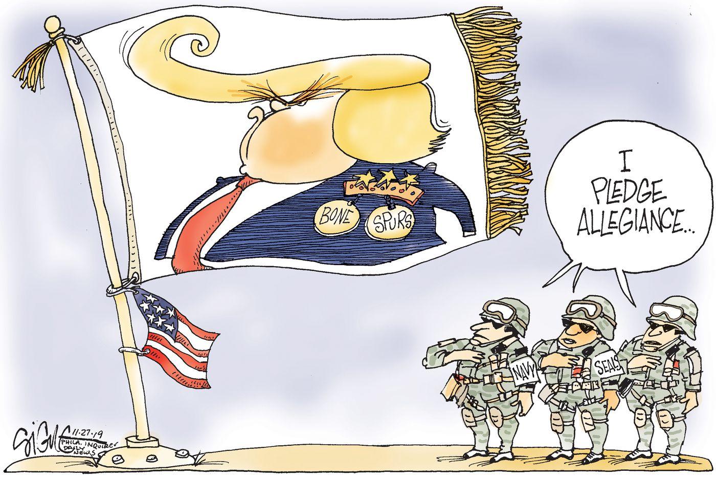 Political Cartoon: Navy Seals pledge allegiance