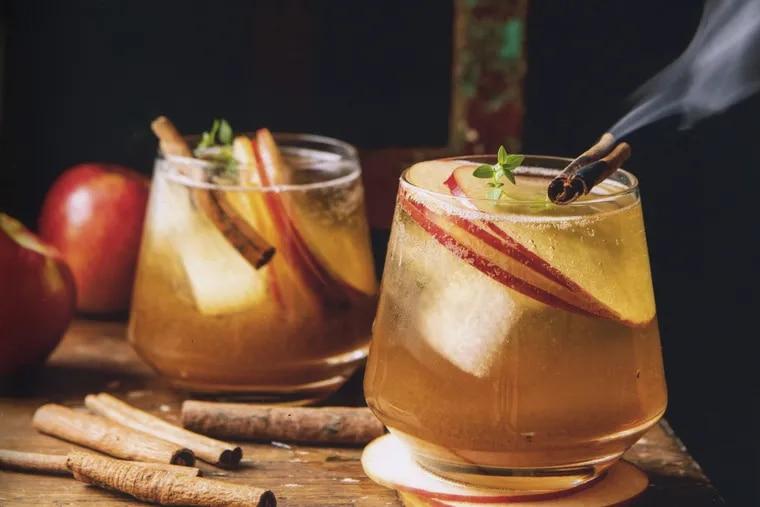 """Honeycrisp Apple Bourbon Smash from the cookbook """"Half Baked Harvest: Super Simple."""""""