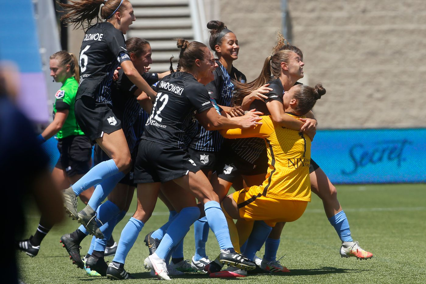 Kailen Sheridan leads Sky Blue FC to upset of Rose Lavelle's Washington Spirit in NWSL Challenge Cup quarterfinals
