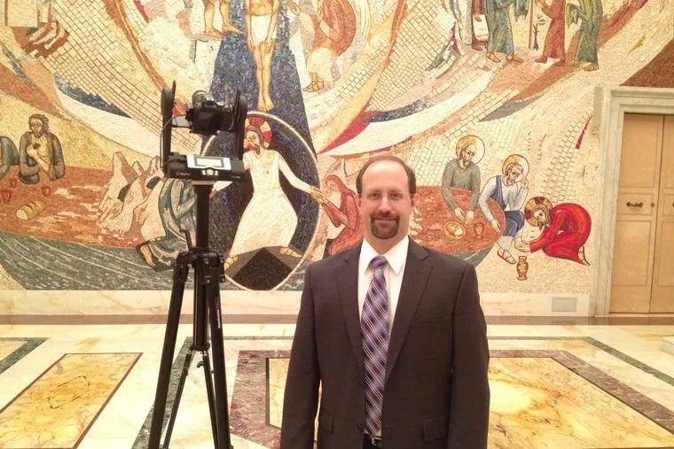 Frank Klassner, Villanova University computer science professor and lead of the project, in the Redemptoris Mater Chapel at the Vatican