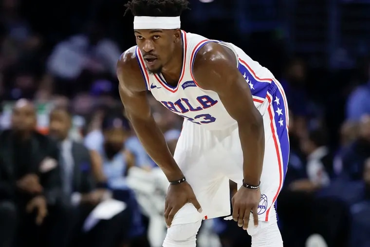 Philadelphia 76ers star guard Jimmy Butler has been sidelined the past two games with a strained groin.