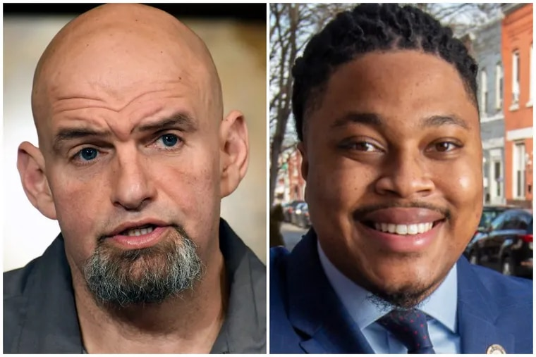 The first big entries in Pa's 2022 Democratic Senate primary -- Lt. Gov. John Fetterman (l.) and state Rep. Malcolm Kenyatta (r.) -- offer contrasting views on the party's future.