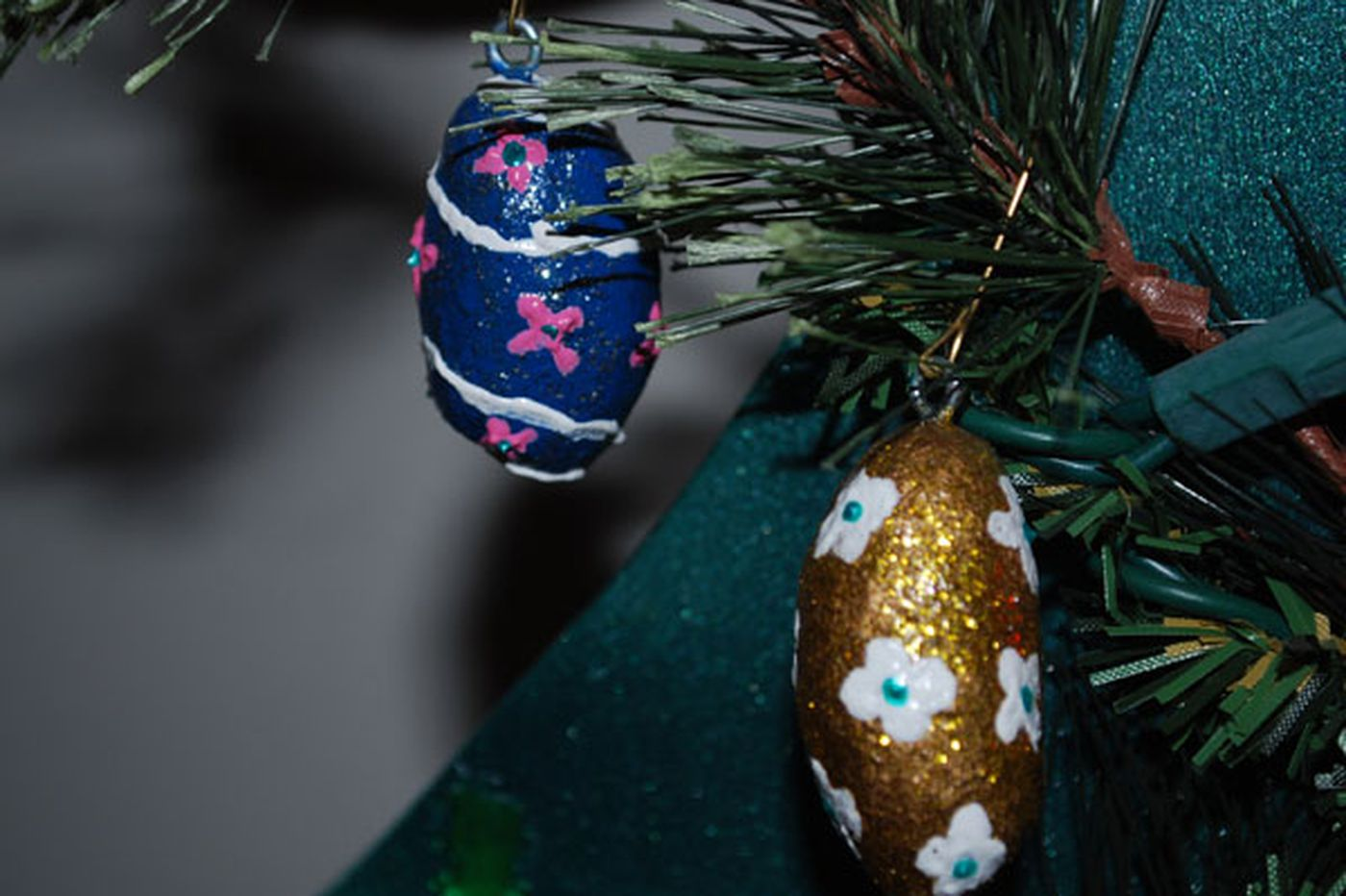 Christmas tree decorations with a twist of moose droppings