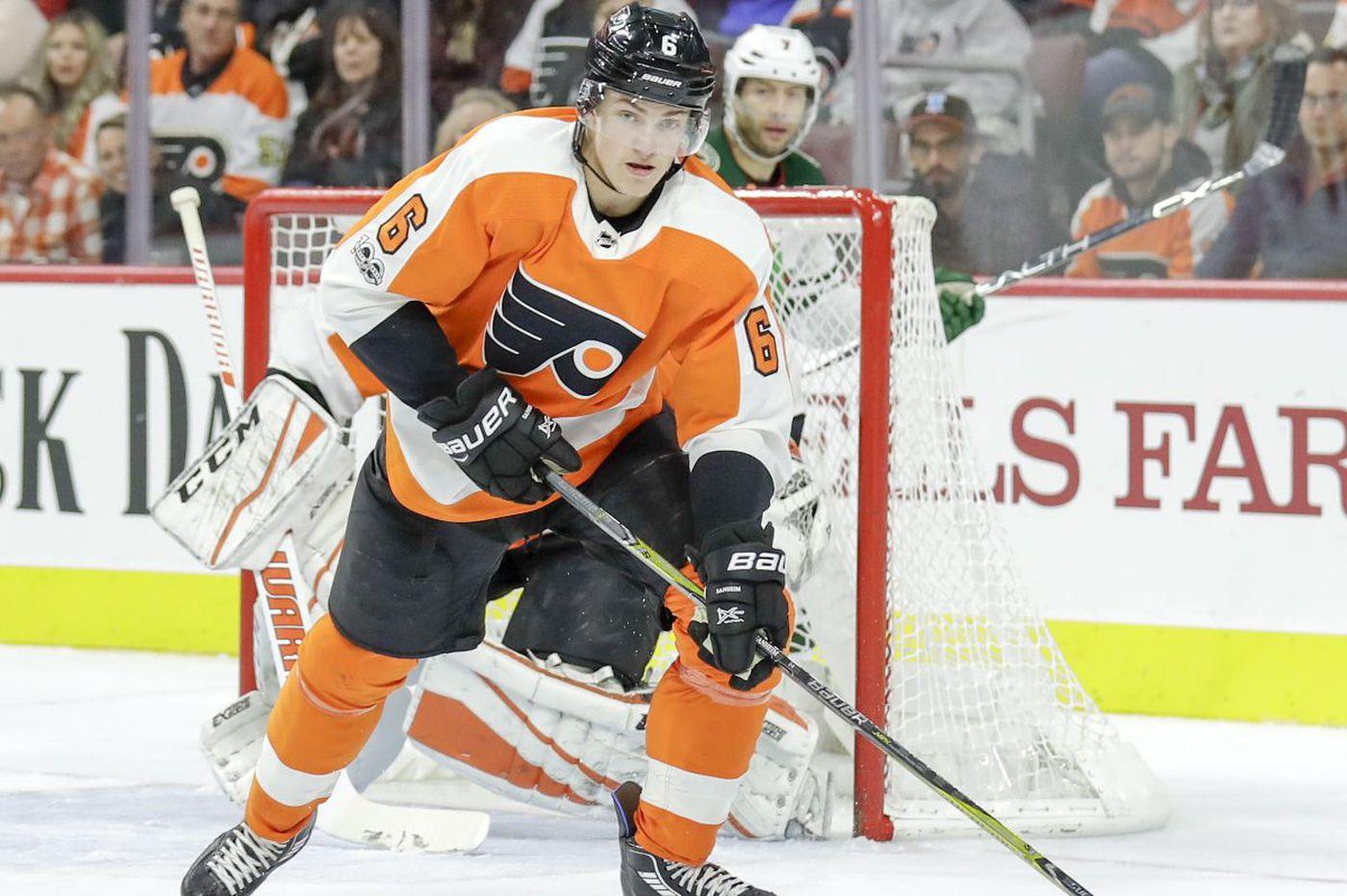 Flyers' Travis Sanheim recalled, will likely play vs. Winnipeg