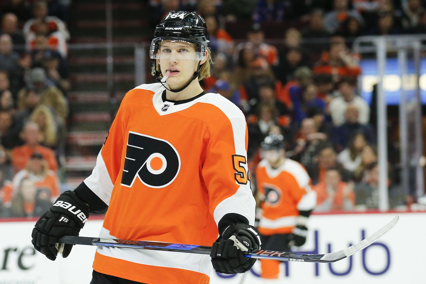 Oskar Lindblom's hat trick propels Flyers past Islanders in rookie game