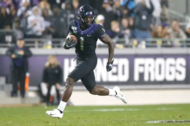 The Eagles took TCU wideout Jalen Reagor with the 21st pick Thursday night in a draft loaded with receiving talent.