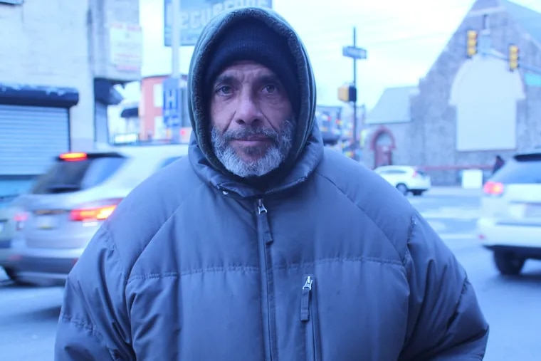 Eduardo Aponte shares a room with other homeless men in Kensington or sleeps on the street most nights. He's one of many Latinos who avoids homeless shelters, who the city is trying to reach.