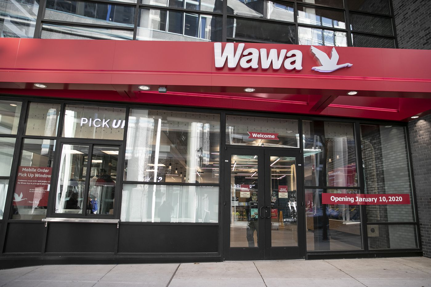 Inside Wawa's tiny new concept store, the first with a walk-up window, opening Friday in Center City