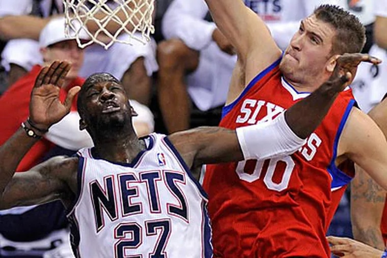 """""""We did just enough to win the game,"""" 76ers coach Doug Collins said. (Bill Kostroun/AP)"""