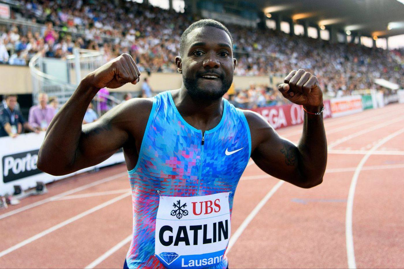 Justin Gatlin excited to be back at Penn for 'USA vs. The World'