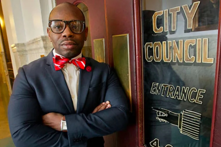 Despite a controversial past, Lewis Thomas III — shown here in 2015 — is running to replace retiring State Rep. Curtis Thomas. He has the financial support of the city's powerful electricians union.
