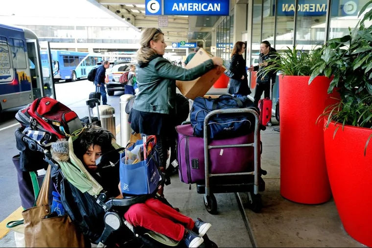 Passengers departing  Philadelphia International Airport last month. U.S. airports want to nearly double the $4.50 passenger facility charge added to airline tickets to pay for needed infrastructure improvements. Airlines and consumer groups are opposed.