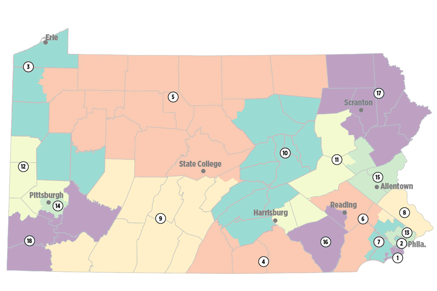 Pennsylvania, gerrymandered: A guide to Pa.\'s congressional map ...