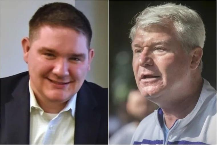 L: Richard Lazer, Mayor Kenney's deputy mayor of labor. R: John Dougherty, leader of Philadelphia's building trades.