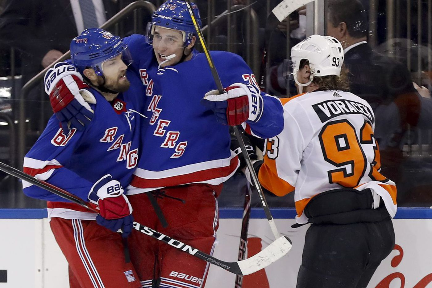 Rangers trounce sloppy Flyers, snapping their 4-game winning streak