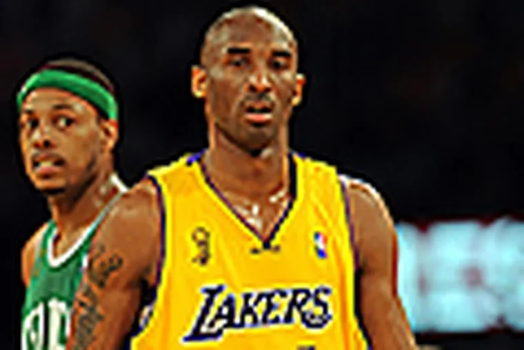 Kobe Bryant led the Lakers to a victory in Game 3 of the NBA Finals. (Getty Images)