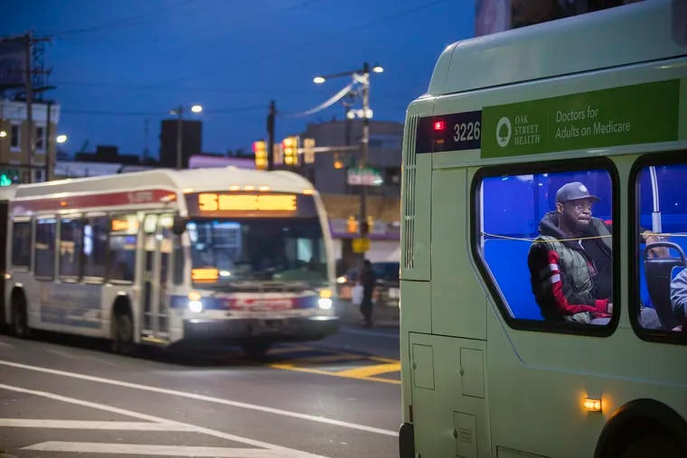 SEPTA buses on Erie Ave. on Oct. 29, 2019